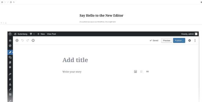 De Gutenberg editor © Wordpress